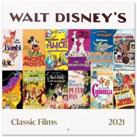 Calendario 2021 30X30 Disney Classic Films