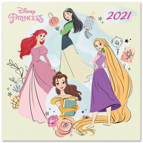 Calendario 2021 30X30 Disney Princess Classics