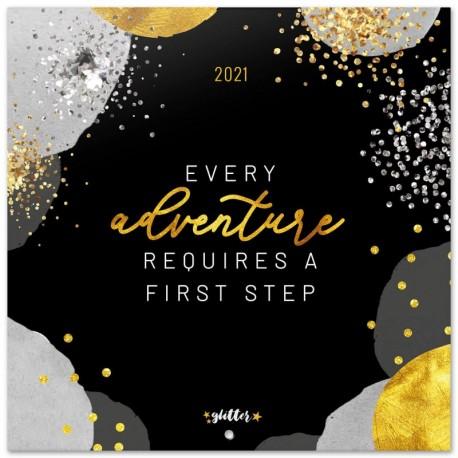Calendario 2021 30X30 Glitter Gold Dreams