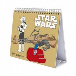 Calendario De Escritorio Deluxe 2021 Star Wars Classic