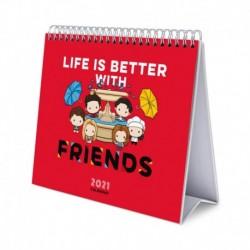 Calendario De Escritorio Deluxe 2021 Friends