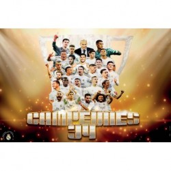 Poster Grande Real Madrid Campeones Liga 2019/2020