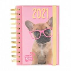 Agenda Anual 2021 Día Pagina Studio Pets Dog