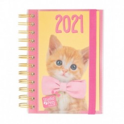 Agenda Anual 2021 Día Pagina Studio Pets Cat