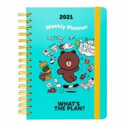 Agenda 2021 A5 Semana Vista Line Friends
