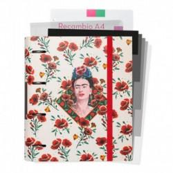 Carpeblock 4 Anillas Troquelada Frida Kahlo