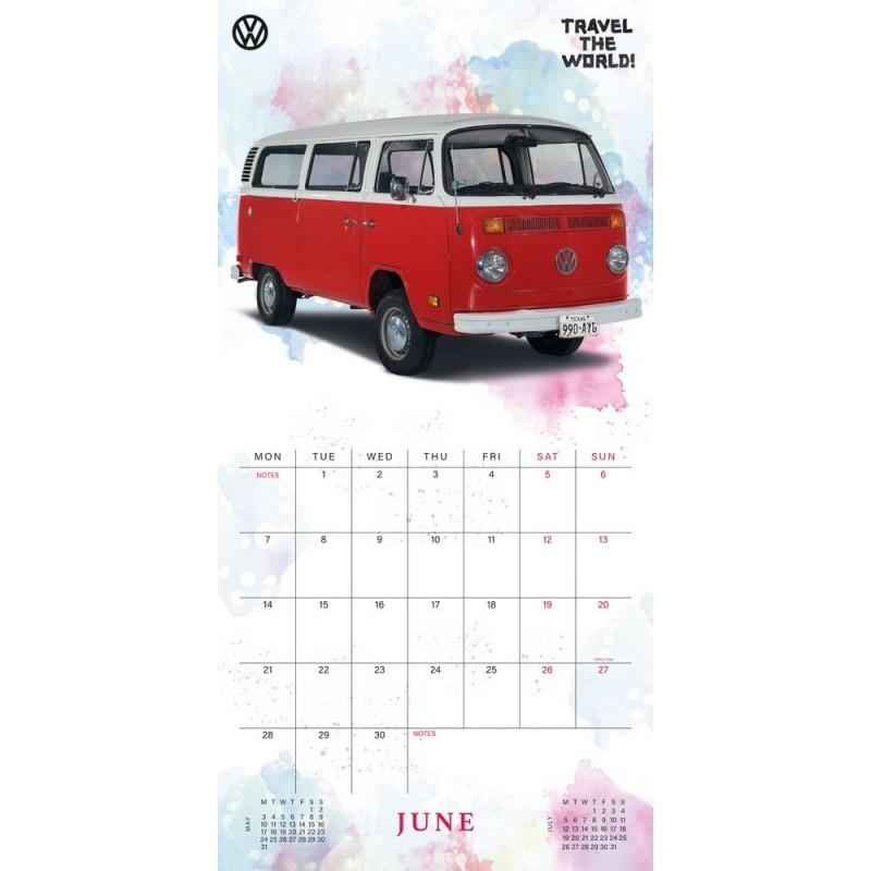 comprar calendario 2021 30x30 vw camper vans online