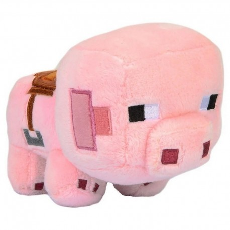 Peluche Minecraft Happy Explorer Saddled Pig