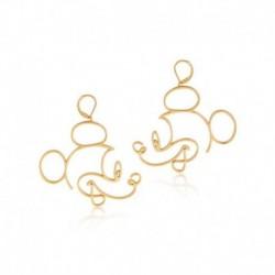 Pendientes Baño De Oro 14K Disney Mickey