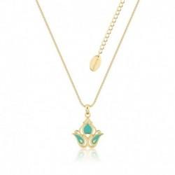 Colgante Baño De Oro 14K Disney Aladdin Princesa Jasmine