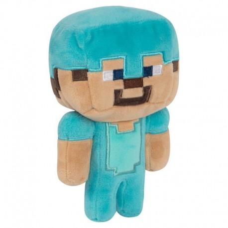Peluche Minecraft Happy Explorer Steve Diamante