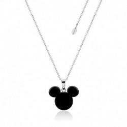 Colgante Acetato Disney Mickey Negro