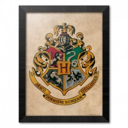 Print Enmarcado 30X40 Cm Harry Potter Hogwarts Crest