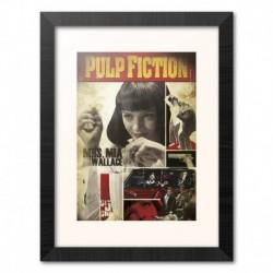 Print Enmarcado 30X40 Cm Pulp Fiction Mia