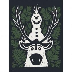 Print 30X40 Cm Disney Frozen Ii Olaf Y Sven