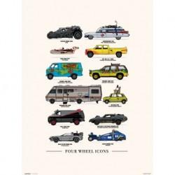 Print 30X40 Cm Four Wheels Icons