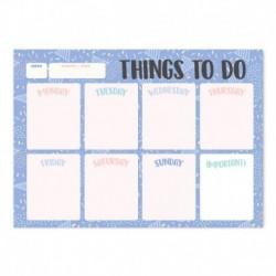 Bloc Planificador Semanal A4 Amelie Classic Azul
