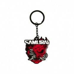 Llavero Cyberpunk 2077 Logo Samurai Metalico
