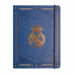Cuaderno Tapa Forrada Premium Pu Real Madrid