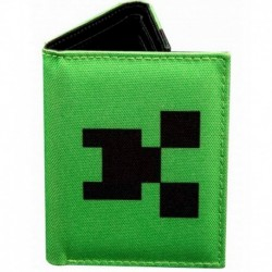 Cartera Tri-Fold Minecraft Creeper Crowd