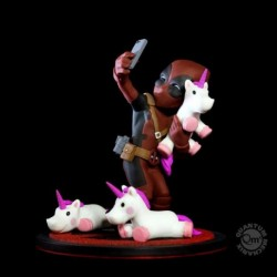 Figura Qfig Marvel Deadpool Unicorn Selfie