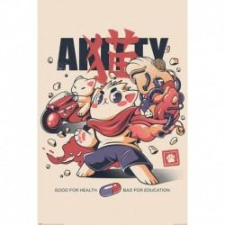 Poster Ilustrata Akitty
