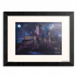 Print Enmarcado 30X40 Cm Harry Potter Hogwarts