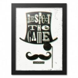 Print Enmarcado 30X40 Cm Monopoly Respect The Game