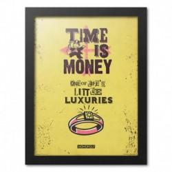 Print Enmarcado 30X40 Cm Monopoly Time Is Money