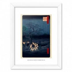 Print Enmarcado 30X40 Cm New Year'S Eve Foxfires At The Changing Tree, Oji