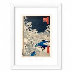 Print Enmarcado 30X40 Cm The Drum Bridge And Sunset Hill At Meguro