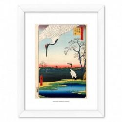 Print Enmarcado 30X40 Cm Two Red-Crowned Cranes