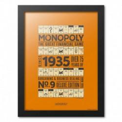 Print Enmarcado 30X40Cm Monopoly 1935