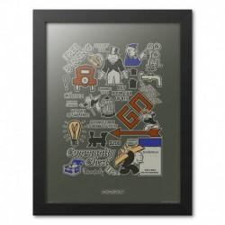 Print Enmarcado 30X40Cm Monopoly Boardwalk