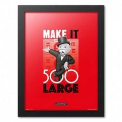 Print Enmarcado 30X40Cm Monopoly Make It 500 Large