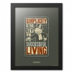 Print Enmarcado 30X40Cm Monopoly Simplicity