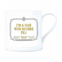 Taza Vintage Peaky Blinders I Am A Man Who Drikns Tea