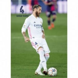 Postal Real Madrid 2020/2021 Sergio Ramos Accion