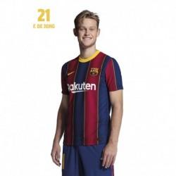Postal Fc Barcelona 2020/2021 De Jong Busto