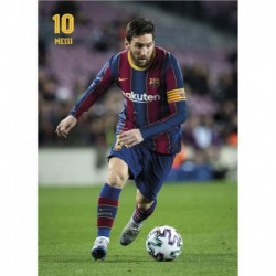Postal Fc Barcelona 2020/2021 Messi Accion