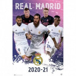 Poster Real Madrid 2020/2021 Grupo