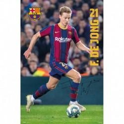 Póster Grande XXL Fc Barcelona 2020/2021 De Jong