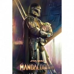 Póster XXL Star Wars The Mandalorian Clan Of Two