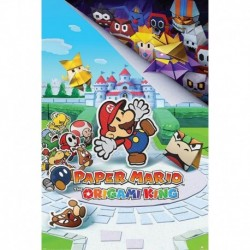 Póster Grande XXL Paper Mario The Origami King