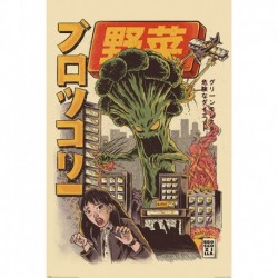 Póster Grande XXL Ilustrata Broccozilla