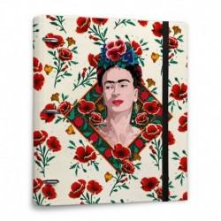 Carpeta 3 Anillas Troquelada Premium Frida Kahlo Flowers