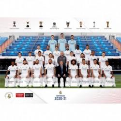 Postal A4 Real Madrid 2020/2021 Plantilla