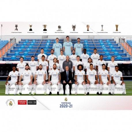 Poster Real Madrid 2020/2021 Plantilla