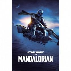 Poster Star Wars The Mandalorian Speeder Bike 2