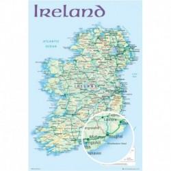 Poster Mapa Irlanda 2012